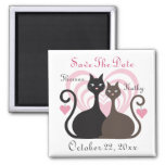 Love Cats Custom Save The Date Magnet Square