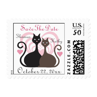 Love Cats Custom Save The Date Postage
