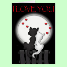 I Love You - Love Cats Card