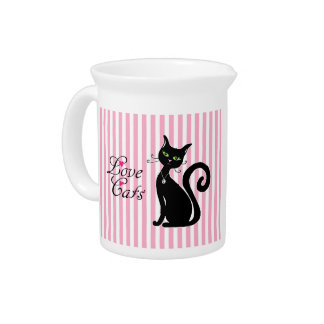 Love Cats Drink Pitcher