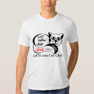 Love Cats Feline Kittens Graphic Text Image Shirt