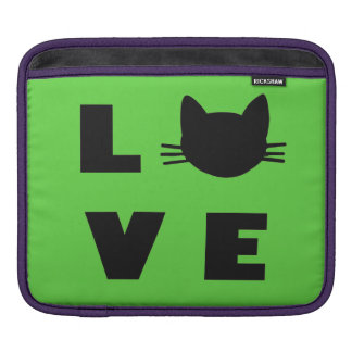 Love Cats (green) Sleeves For iPads