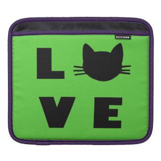 Love Cats (green) iPad Sleeves