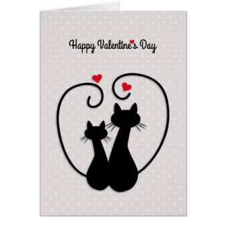 Love Cats, Happy Valentine's Day Card