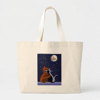Love cats jumbo tote bag