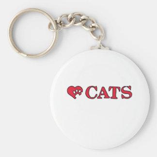 love cats llavero redondo tipo pin