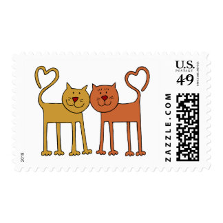 Love Cats Postage Stamp