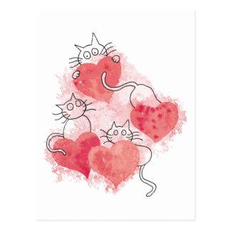 Love Cats Postcard