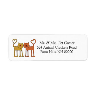 Love Cats Return Address Mail Labels Stickers