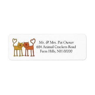 Love Cats Return Address Mail Labels Stickers Return Address Labels