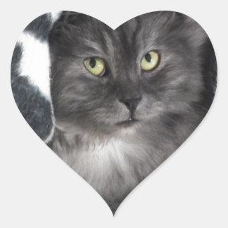 love cats heart sticker