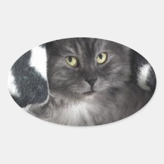 love cats oval sticker