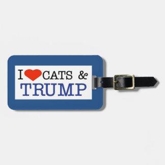Love Cats Trump Bag Tag
