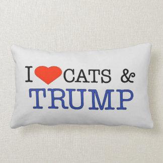 Love Cats Trump Lumbar Pillow