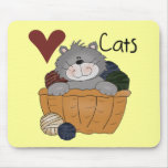 Love Cats Tshirts and Gifts Mouse Pad
