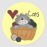 Love Cats Tshirts and Gifts Round Sticker