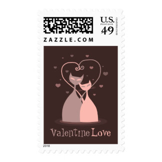 Love Cats Valentine's Day stamps