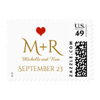 love celebration personalized couple postage