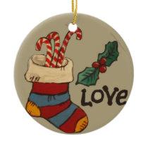Love Ceramic Ornament