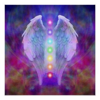 Love,chakra,angel,god,healer,healing,yoga,heal,yog Poster