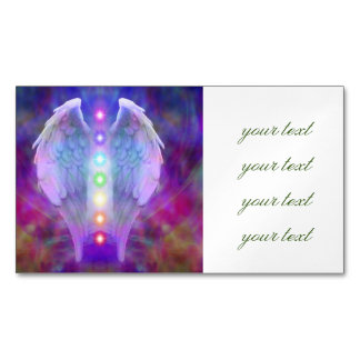 Love,chakra,angel,god,healer,healing,yoga,heal, Magnetic Business Cards (Pack Of 25)