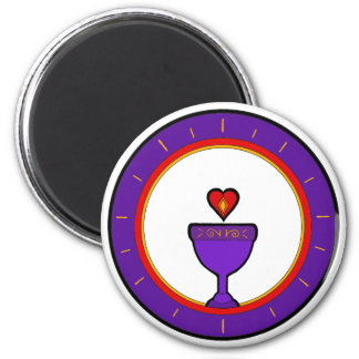 Love Chalice Circle Magnet