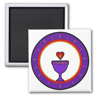 Love Chalice Square Magnet
