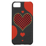 love checkered hearts iPhone 5C covers