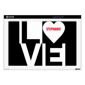 Love Checkers Laptop Decal