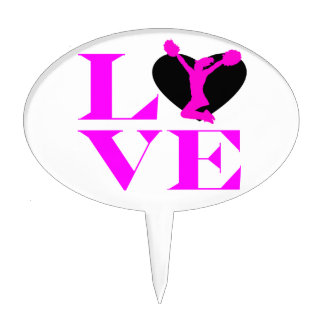 Love Cheer Cake Topper