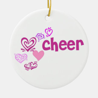 Love Cheer Ceramic Ornament