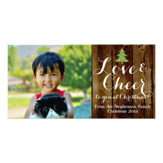 Love Cheer Country Vintage Christmas Card