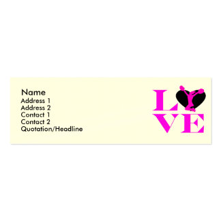 Love Cheer Double-Sided Mini Business Cards (Pack Of 20)
