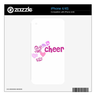 Love Cheer Decal For iPhone 4