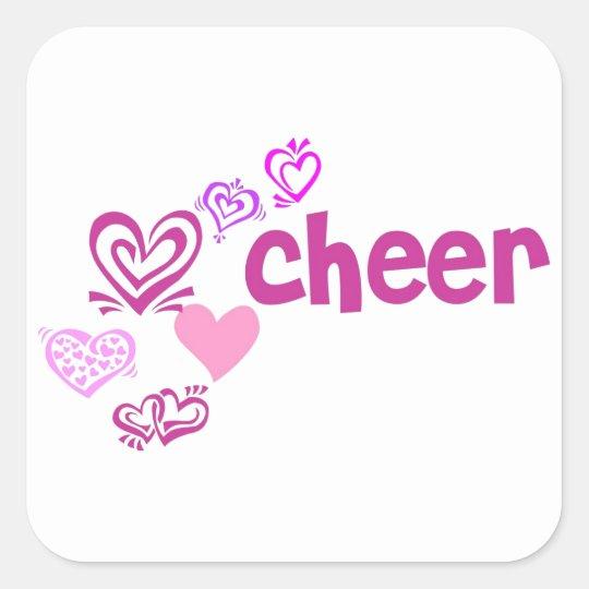 Love Cheer Square Sticker