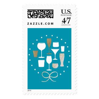 Love Cheer Vodka Beer | Holiday Postage Stamp