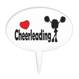 Love Cheerleading Cake Topper