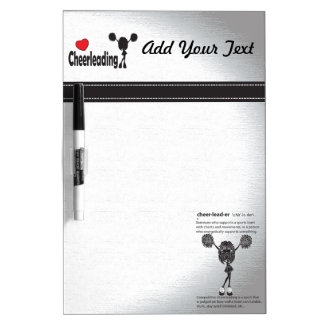 Love Cheerleading Dry Erase Board