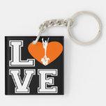 Love Cheerleading Double-Sided Square Acrylic Keychain