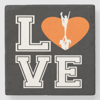 Love Cheerleading Stone Coaster