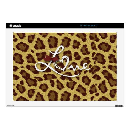 Love Cheetah Prints Collection Decals For Laptops