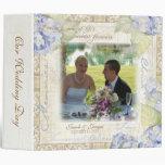 Love & Cherish Blue Hydrangea Floral Wedding Vinyl Binders