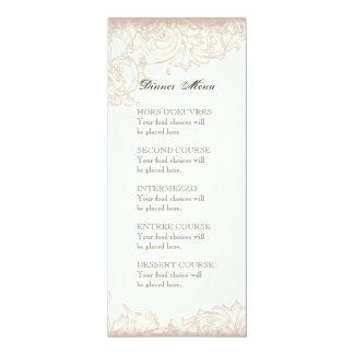 Love & Cherish Blue Hydrangea Floral Wedding 4x9.25 Paper Invitation Card