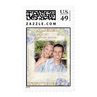 Love & Cherish Blue Hydrangea Wedding Stamps
