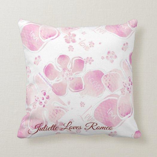 Love Cherry Blossoms Throw Pillow
