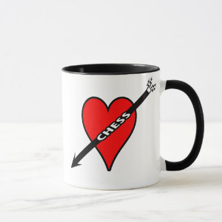 Love Chess Heart Mug