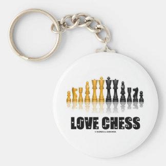 Love Chess Key Chains