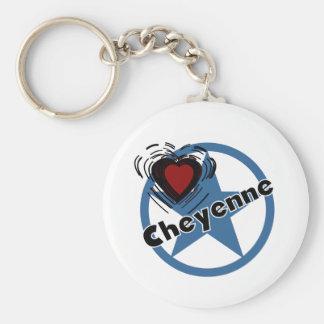 Love Cheyenne Basic Round Button Keychain
