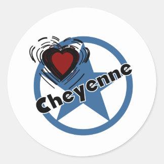 Love Cheyenne Classic Round Sticker