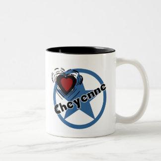 Love Cheyenne Two-Tone Coffee Mug